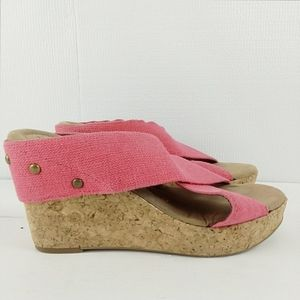 Mossimo Cork Platform Wedge Slide In Size 8.5